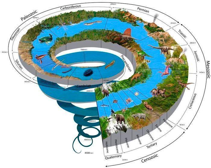Ilustración digital de la espiral del tiempo ecológico. Por Nicolas Primola   Shutterstock.com
