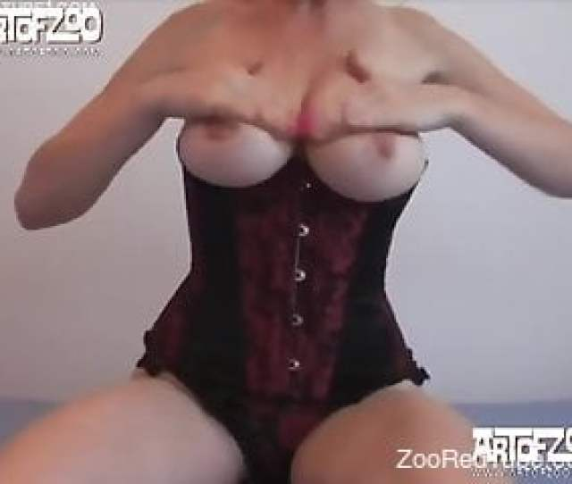 Big Boobed Hottie In Corset Fucks With A Trained Hunter Dog