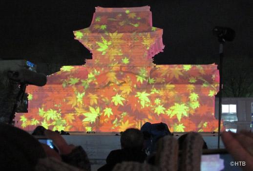 札幌雪祭り2015春日大社・中門