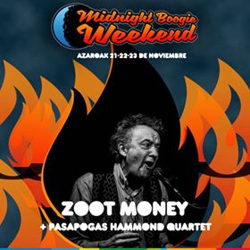 Flyer - Midnight Boogie Weekend, Zoot Money & Pasapogas Hammond Quartet