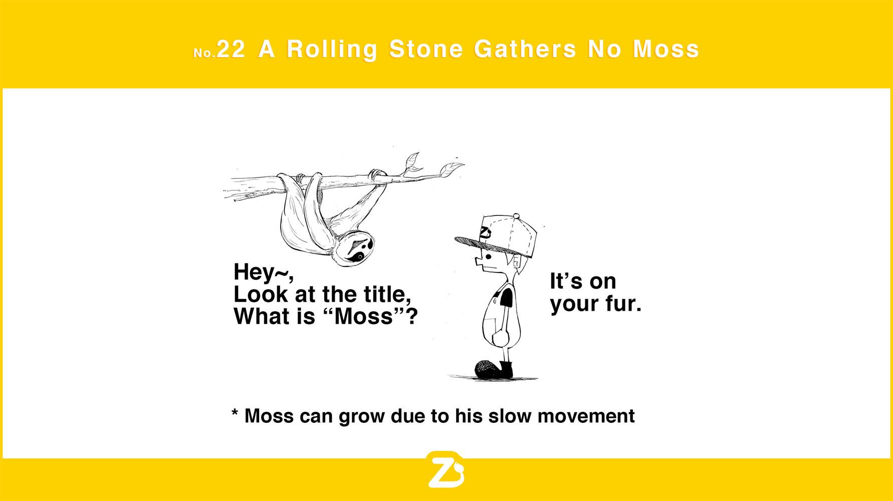 no. 22  A Rolling Stone Gathers No Moss