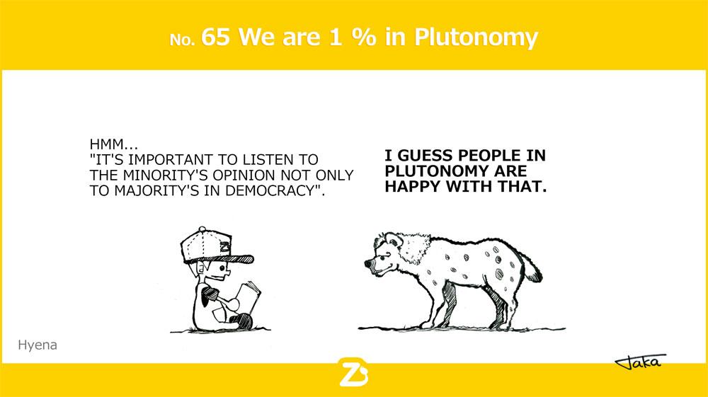 No. 65 We are 1 % in Plutonomy/ マイノリティーのプルトノミー