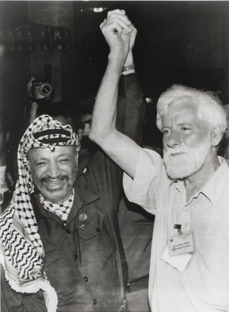 With Arafat on his first day in Gaza, 1994