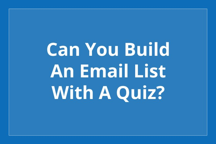 Can you build an email list with a quiz?