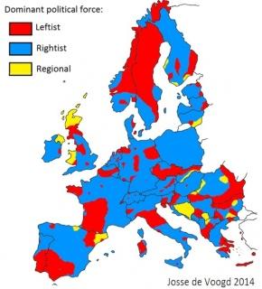 Lijevi i desni u Europi (lipanj 2014