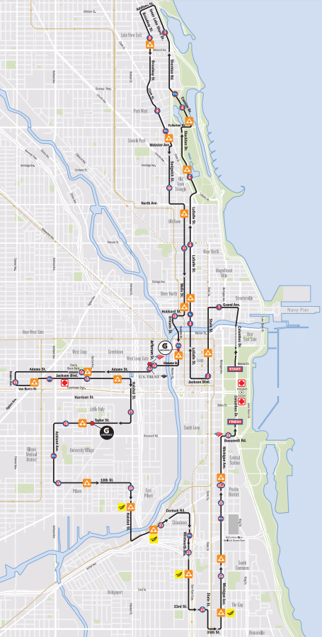 Chicago Marathon Route 2017