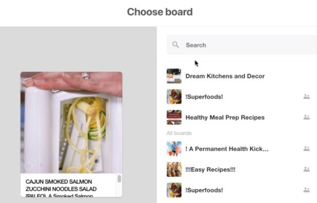 Pinterest Video Board