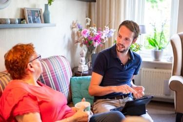 Frank Bouwmeester, wijkverpleegkundige Sensire Voorst / blog Maarten van Rixtel