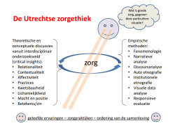Visie Utrechtse Zorgethiek