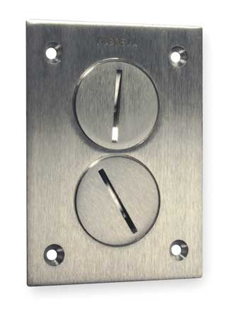 Floor Box Cover Plate : floor, cover, plate, Hubbell, SA3625, Floor, Cover,1-Gang,3, Zoro.com