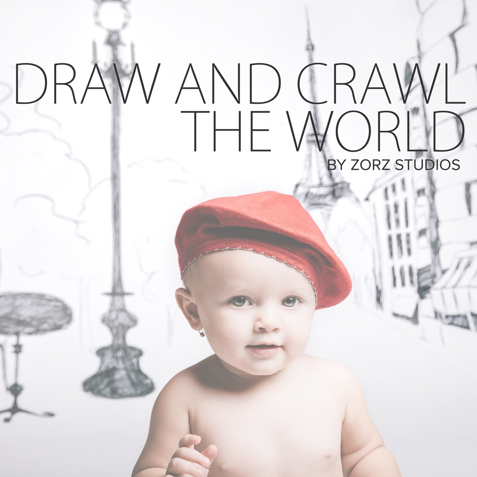 Draw and Crawl the World - Creative Children Photography by Zorz Studios (21)