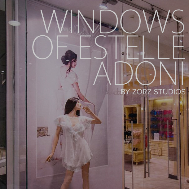 Appearing in the Window Displays of Estelle Adoni Lingerie by Zorz Studios (1)