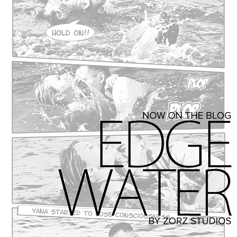 Edge Water: Yana + Alex = Comic Engagement Session by Zorz Studios (1)