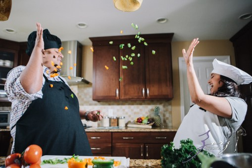 Who's The Chef? Rupal + Krishna = Food Fight Engagement Session by Zorz Studios (21)