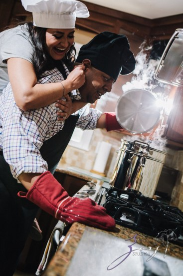 Who's The Chef? Rupal + Krishna = Food Fight Engagement Session by Zorz Studios (17)