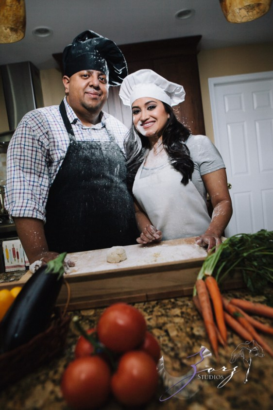 Who's The Chef? Rupal + Krishna = Food Fight Engagement Session by Zorz Studios (12)