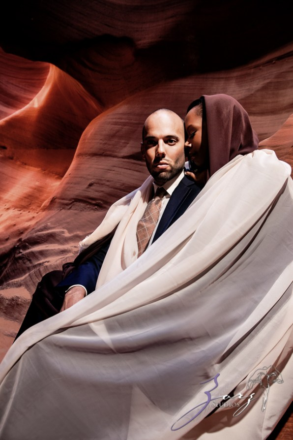 Canyon: Fashionable Engagement Session at Antelope Canyon by Zorz Studios (15)
