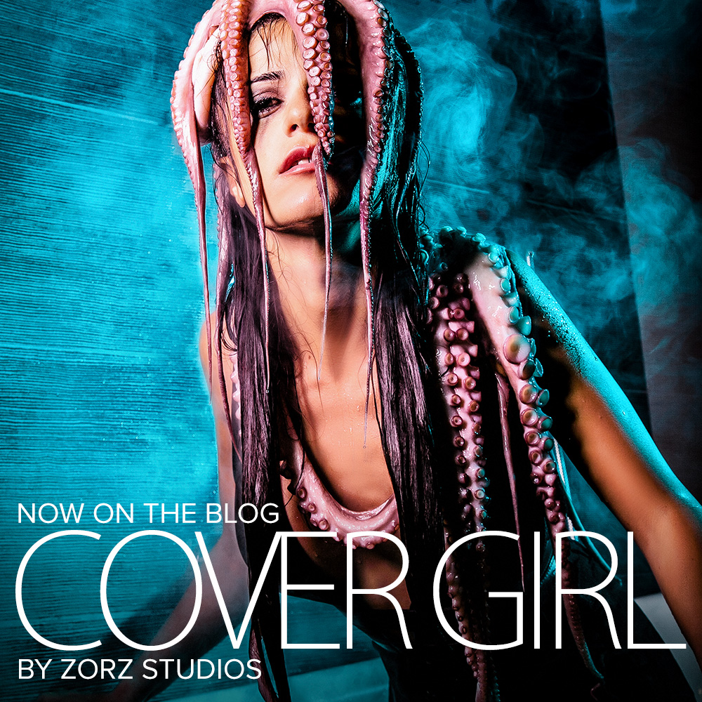 Cover Girl: Eerily Beautiful Photoshoot with Octopus by Zorz Studios (1)
