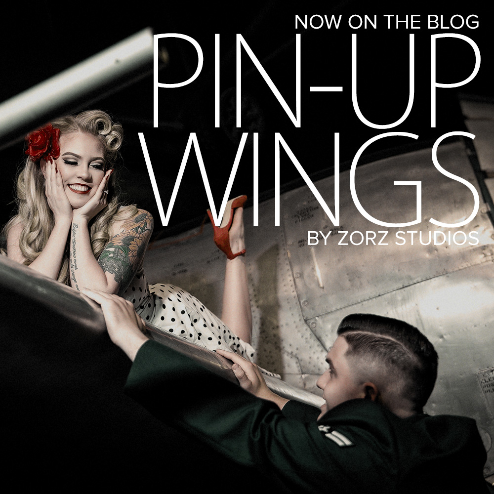 Pin-up Wings: Sam + Connor = Vintage Military Engagement Shoot by Zorz Studios (2)