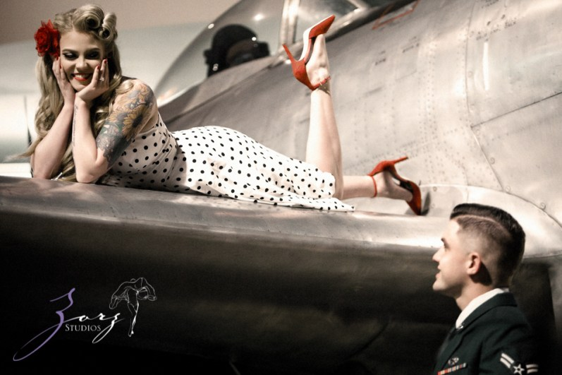 Pin-up Wings: Sam + Connor = Vintage Military Engagement Shoot by Zorz Studios (22)