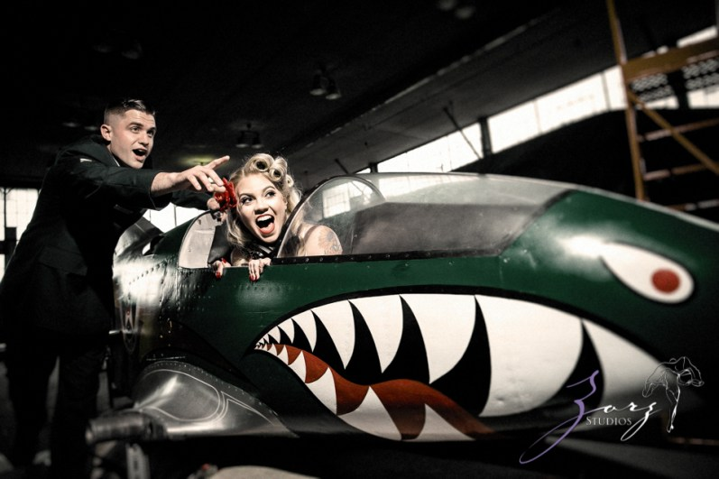 Pin-up Wings: Sam + Connor = Vintage Military Engagement Shoot by Zorz Studios (17)
