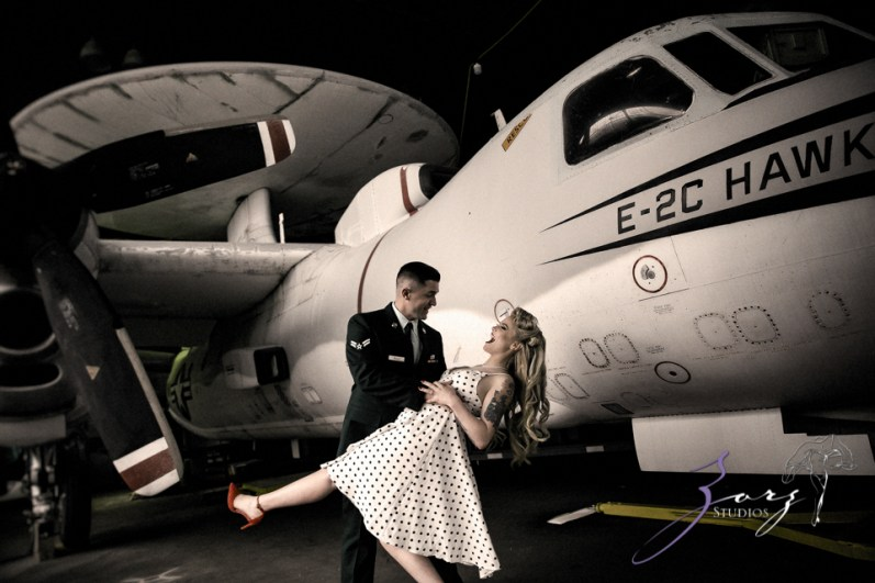 Pin-up Wings: Sam + Connor = Vintage Military Engagement Shoot by Zorz Studios (12)