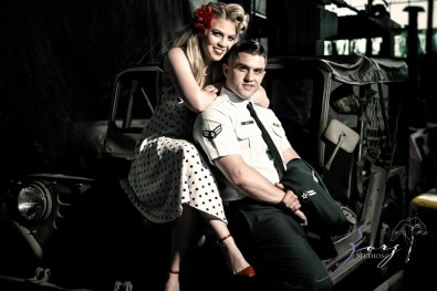 Pin-up Wings: Sam + Connor = Vintage Military Engagement Shoot by Zorz Studios (8)
