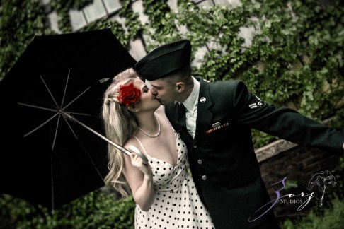 Pin-up Wings: Sam + Connor = Vintage Military Engagement Shoot by Zorz Studios (3)