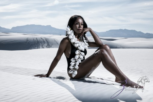 Icy Hot: Black Beauty in the White Sands Photoshoot by Zorz Studios (5)
