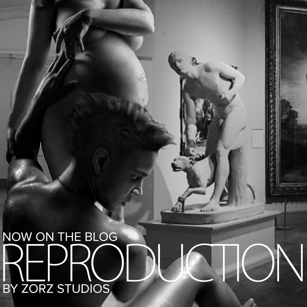 Reproduction: Turning Maternity Photo Into Statue by Zorz Studios