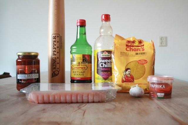 ingredienten vleesmarinade
