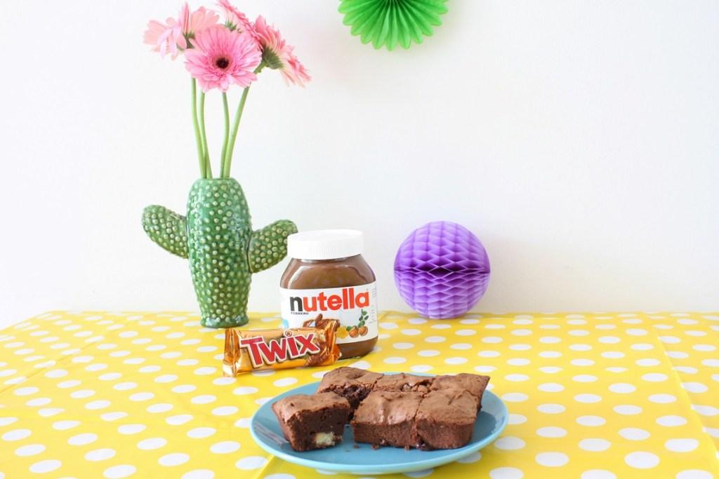 Twix brownie