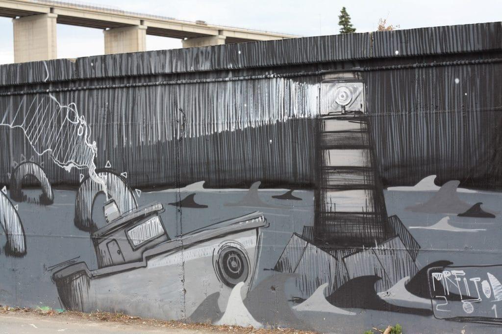 grey graffiti