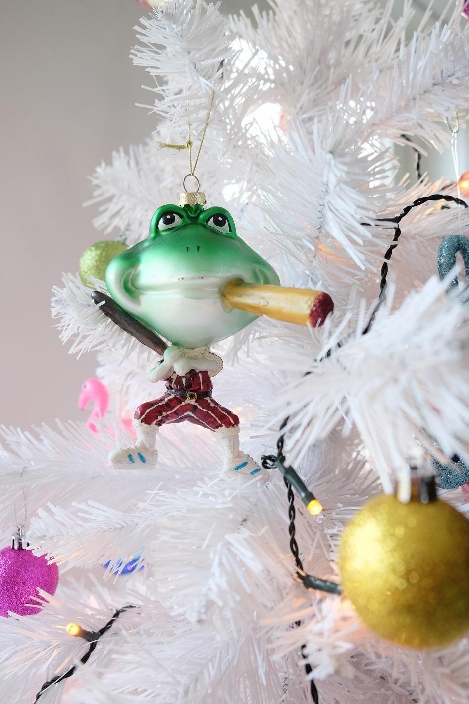 kerstboom kikker