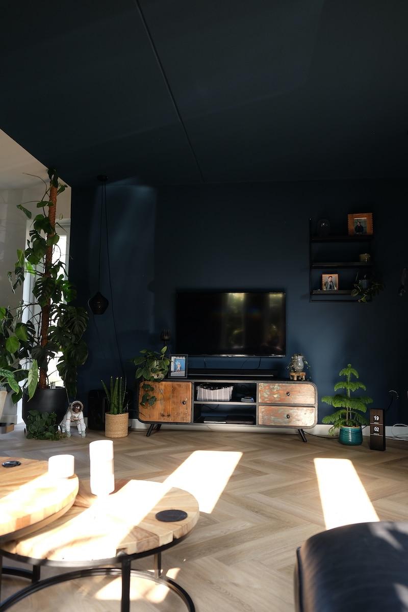 blauw plafond