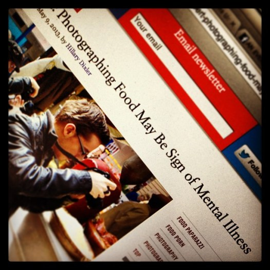 ing - But photographing headlines about photographing food is totally normal