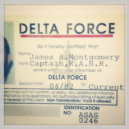 Yah thus is mah delta force id. As you can tell from photo, it's pretty old, and ver real - insta
