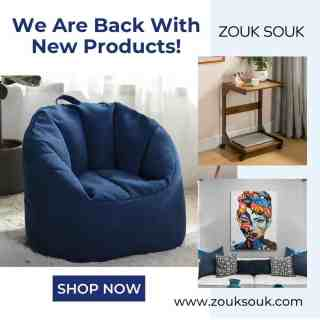 We Are Back With New Products. Shop Now! Visit - Link in bio  #YourComfortCompanion #Kuwait #beanbag #kuwaiti #onlineshopping #Decor #decoration #zouksouk #homedecor #officedecor #furniture #furnituredesign #interiordesign  #غرفةمعيشة ‏#غرفطعام #غرفه_نوم #تصميمداخلى #ديكور #ديكوراتخارجية #ديكوراتفخمه #تصميمحدائق