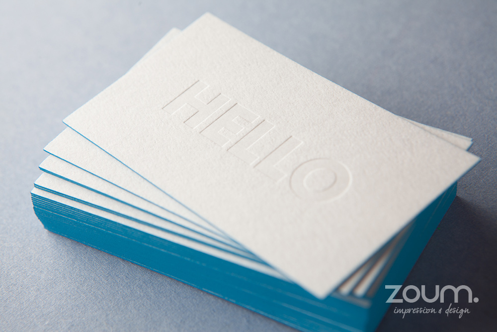 Colored edges painted edges for Business cards and