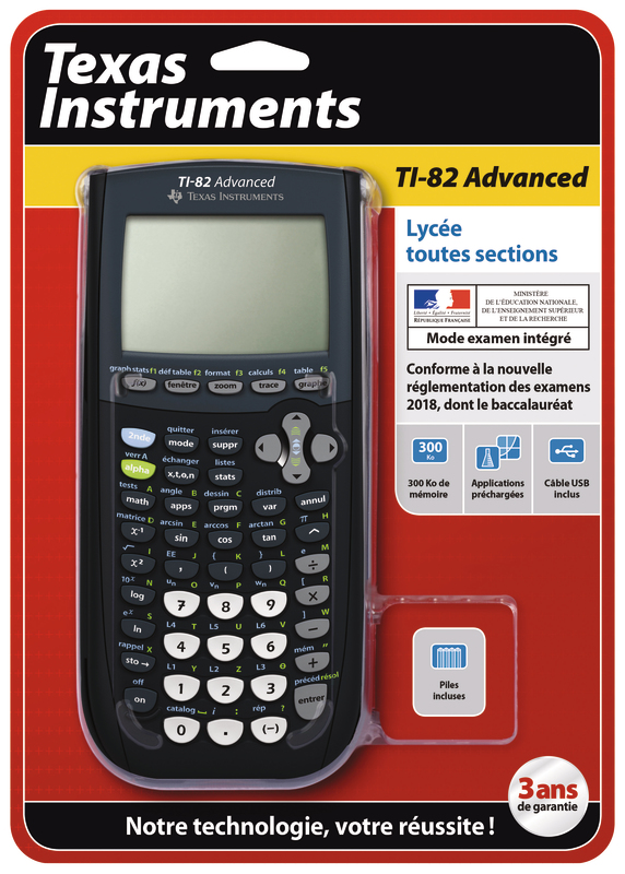 Ti 82 Advanced Mode Examen : advanced, examen, 3243480105071, TEXAS, INSTRUMENT, TI-82, Vendeurs)