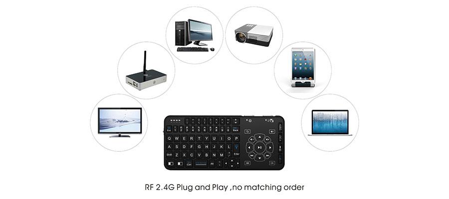Multi-media Wireless Keyboard