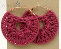 Free crochet earrings pattern | Zo-Zo's Space