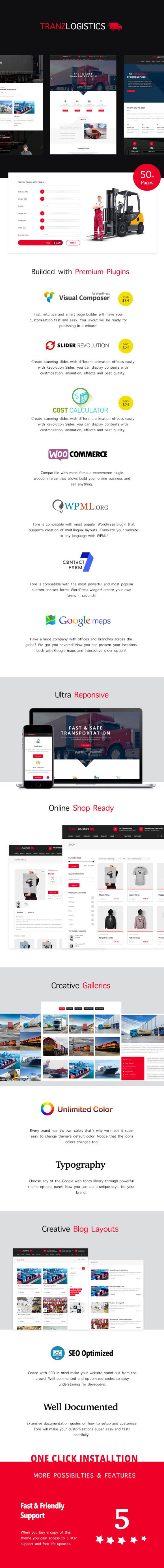 Tranzlogistics - Logistics & Cargo Shipping WordPress Theme - 1