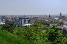 Widoki na miasto ze wzgórza