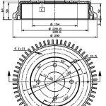 Refurbished Rear Brake Drum, 240Z-260Z-280Z 43206-E4100
