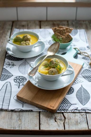 Zdjęcie - Zupa ziemniaczana z serem i klopsikami - Przepisy kulinarne ze zdjęciami