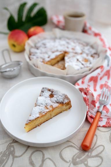 Zdjęcie - Ciasto z jabłkami francuskie - Przepisy kulinarne ze zdjęciami