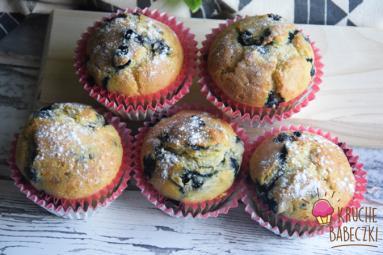 Zdjęcie - Muffiny na kefirze z jagodami - Przepisy kulinarne ze zdjęciami
