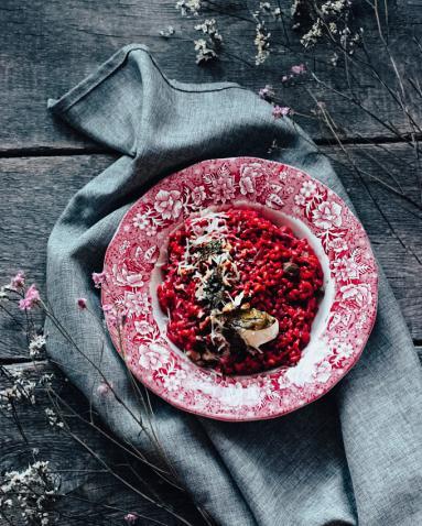 Zdjęcie - Buraczane kaszotto - Przepisy kulinarne ze zdjęciami