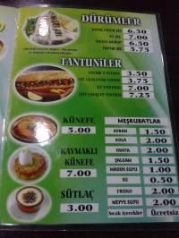 Tureckie menu